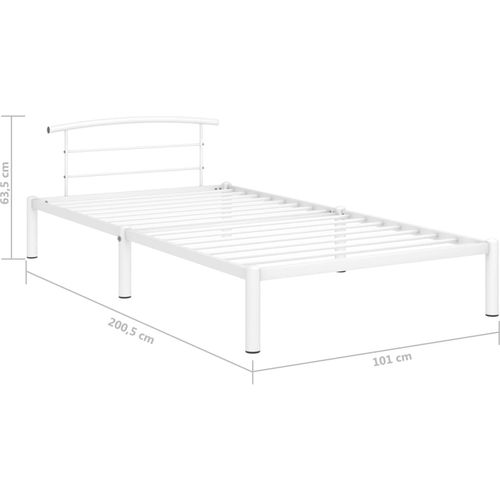 Okvir za krevet bijeli metalni 90 x 200 cm slika 7