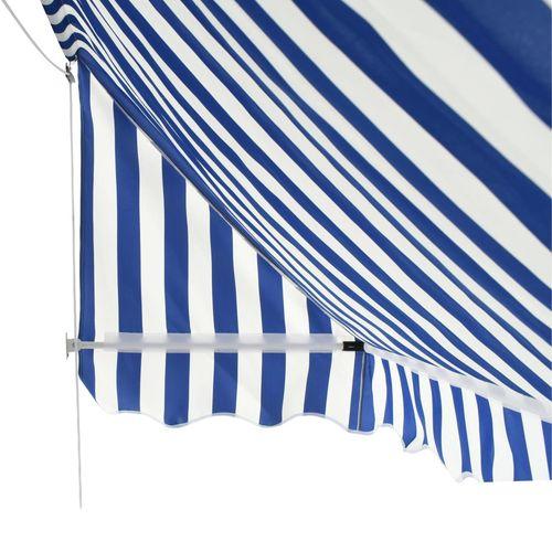 Bistro tenda 200 x 120 cm plavo-bijela slika 14