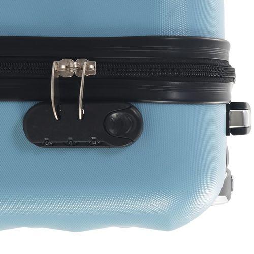 Čvrsti kovčeg s kotačima plavi ABS slika 10