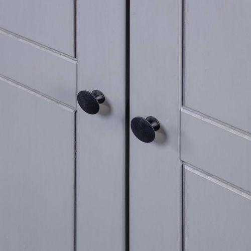 Ormar od borovine 3 vrata sivi 118x50x171,5 cm asortiman Panama slika 3