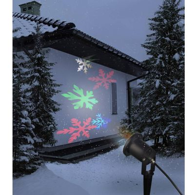 Ovaj LED projektor pruža šaroliku igru svjetla u vašem zimskom vrtu. Pomoću 4 LED žarulje i istovremeno rotirajuće ploče projiciraju se šarene snježne pahuljice. Preporučujemo udaljavanje od obasjanog predmeta 5 m. Kod ovog razmaka dobiva se svjetlosna...