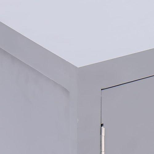 Noćni ormarić sivi 38 x 28 x 52 cm od drva paulovnije slika 9