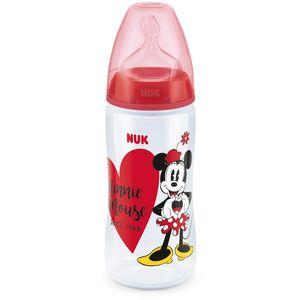 NUK First Choice+ bočica sa likom najpopularnije mišice na svijetu, Minnie Mouse, ima ortodonsku dudu, asimetričnog oblika, napravljenu od mekanog silikona...