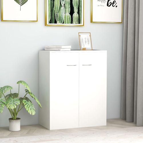 Komoda bijela 60 x 30 x 75 cm od iverice slika 1