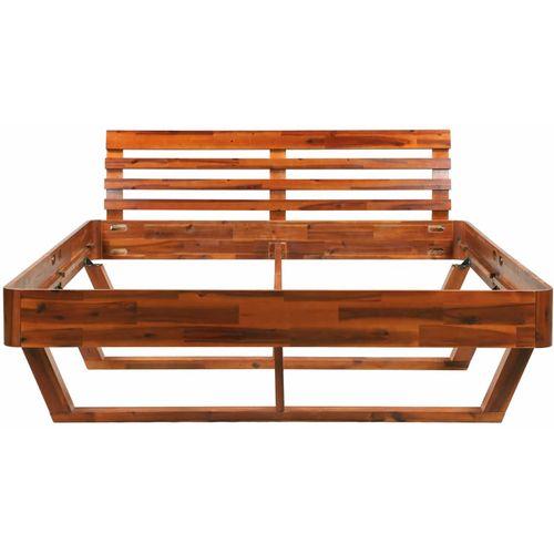 Okvir za krevet od masivnog bagremovog drva 160 x 200 cm slika 12