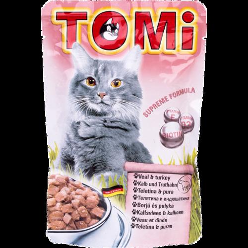 Tomi Hrana za mačke ALU vrećica Teletina/Puretina 100g slika 1