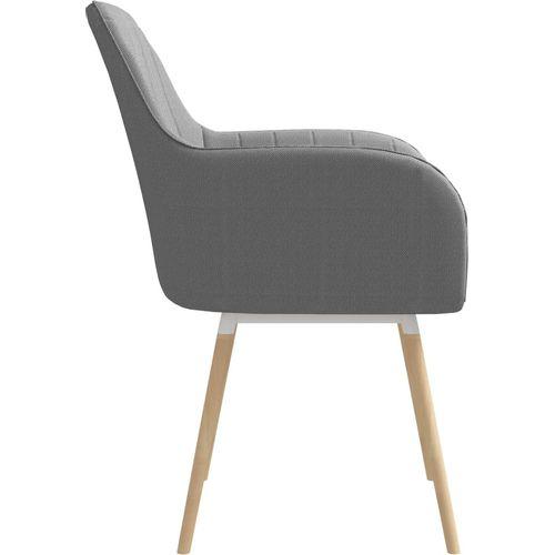 Blagovaonske stolice od tkanine 2 kom svjetlosive slika 4