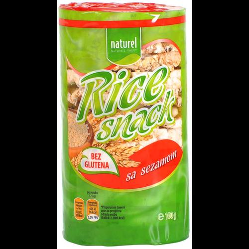 Naturel Rice Snack / Sezam 100g slika 1