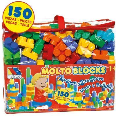 S gradivnim blokovima djeca uče jednostavne pojmove, asimiliraju različite boje i veličine, oblike i ekvivalente.