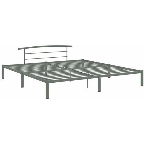 Okvir za krevet sivi metalni 180 x 200 cm slika 3