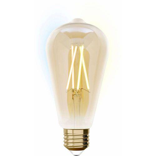 Lutec led Energetska učink. A+ (A++ - E) E27 oblik kugle 9 W = 60 W toplo bijela do neutralno bijela (Ø x D) 125 mm x 175 mm prigušivanje osvjetljenja, filament 1 St. slika 1
