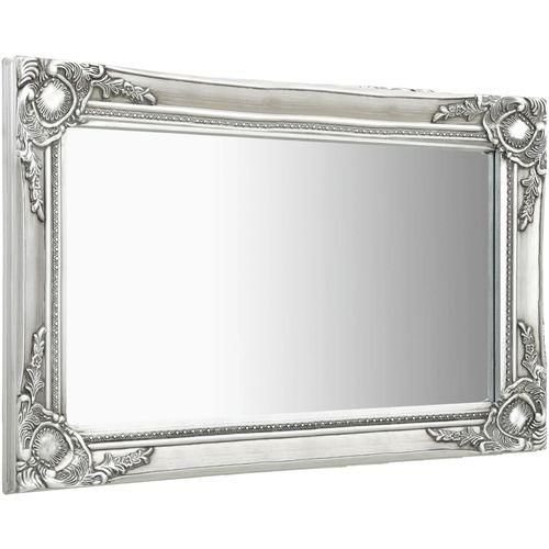 Zidno ogledalo u baroknom stilu 60 x 40 cm srebrno slika 2