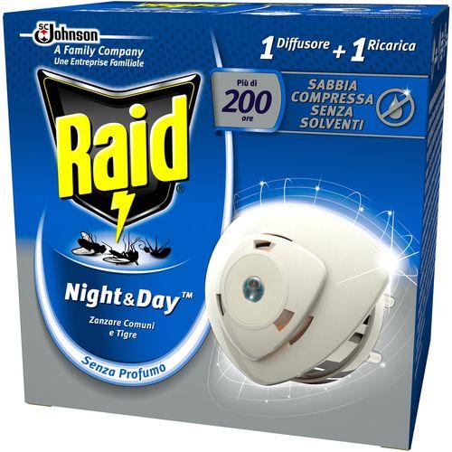 Raid električni aparatić Night&Day - protiv komaraca i tigrastih komaraca slika 1