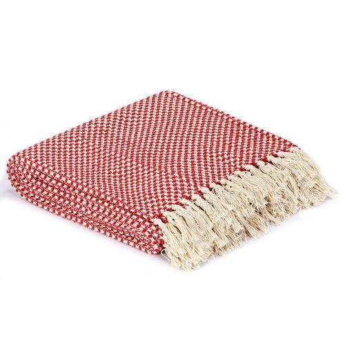 Pamučni pokrivač 220 x 250 cm crveni  slika 4
