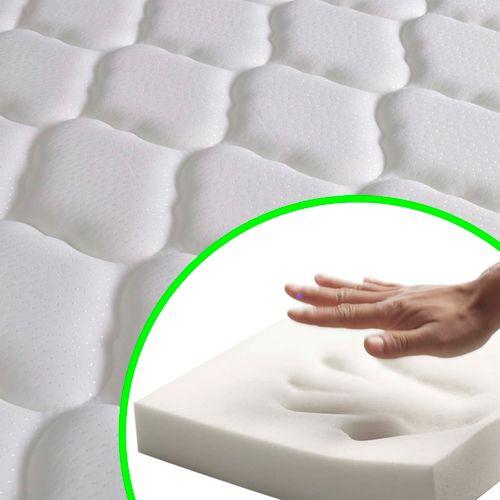 Krevet od tkanine s memorijskim madracem smeđi 140 x 200 cm slika 3