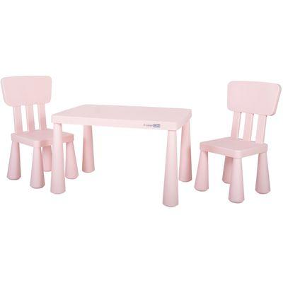 <p>Stabilan i kompaktan dječji stol s dvije stolice, izrađen od izdržljive plastike, odličan je izbor za dječju sobu, dnevni boravak ili bilo koji drugi dječji kutak, jer je primjeren za crtanje, čitanje, stvaranje i igranje igara na ploči.</p> <p><str...