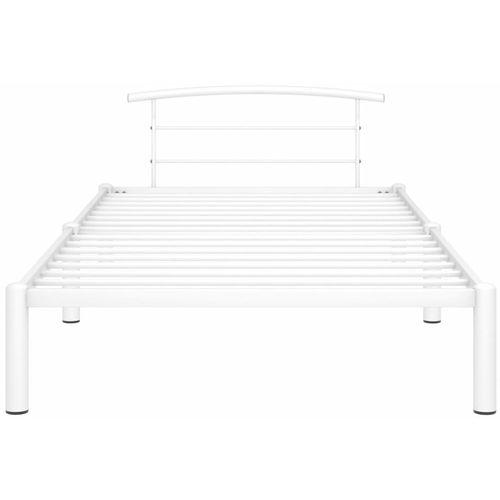 Okvir za krevet bijeli metalni 90 x 200 cm slika 2