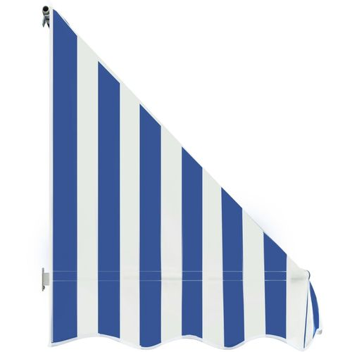 Bistro tenda 200 x 120 cm plavo-bijela slika 12