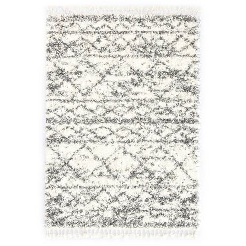 Čupavi berberski tepih PP bež i boja pijeska 120 x 170 cm slika 1