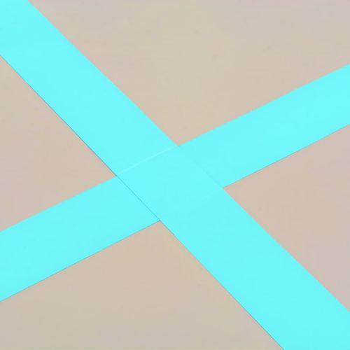 Strunjača na napuhavanje s crpkom 600 x 100 x 10 cm PVC zelena slika 3