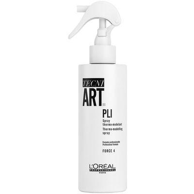 L'Oréal Professionnel Tecni.Art Pli je termo sprej za oblikovanje kose. Idealan saveznik uređajima za toplinu za kreiranje frizura s valovima. Može se koristiti za dodatnu teksturu i disciplinu kose, zadržavajući prirodan i mekan izgled.