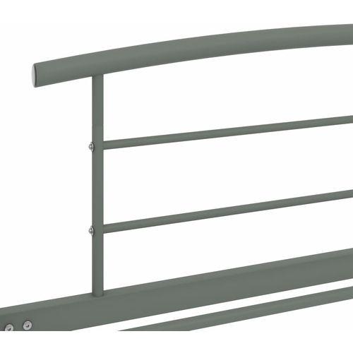 Okvir za krevet sivi metalni 100 x 200 cm slika 5