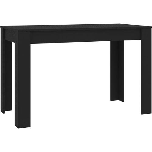 Blagovaonski stol crni 120 x 60 x 76 cm od iverice slika 7
