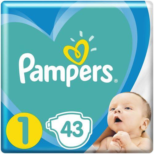 Pampers pelene Active baby newborn veličina 1 (2-5 kg) 43 kom slika 1