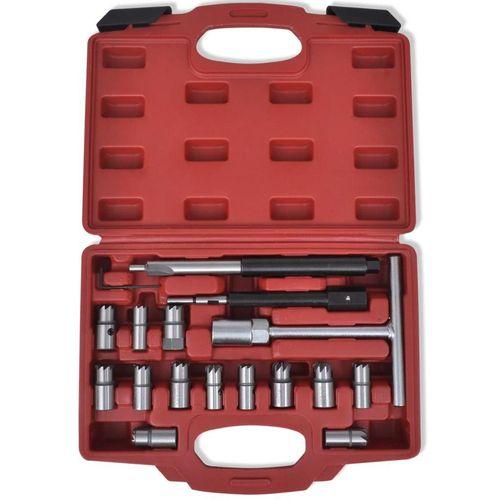 17-dijelni set alata za rezanje kućišta injektora, za diesel vozila slika 3