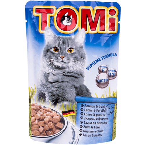 Tomi Hrana za mačke ALU vrećica Losos/Pastrva 100g slika 1