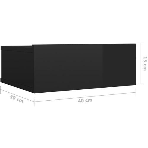 Viseći noćni ormarići 2 kom sjajni crni 40x30x15 cm od iverice slika 20