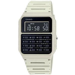 Casio COLLECTION ručni sat CA-53WF-8BEF je s razlogom jedan od najpopularnijih proizvoda iz CASIO kolekcije. Predivan ručni sat na kojem dominira bijela boja kućišta te crna boja brojčanika. Resin i bijela boja remena doista su odlična kombinacija. Ovaj prekrasan CASIO ručni sat pokreće quartz mehanizam.