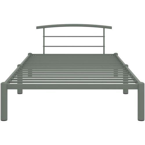 Okvir za krevet sivi metalni 90 x 200 cm slika 3