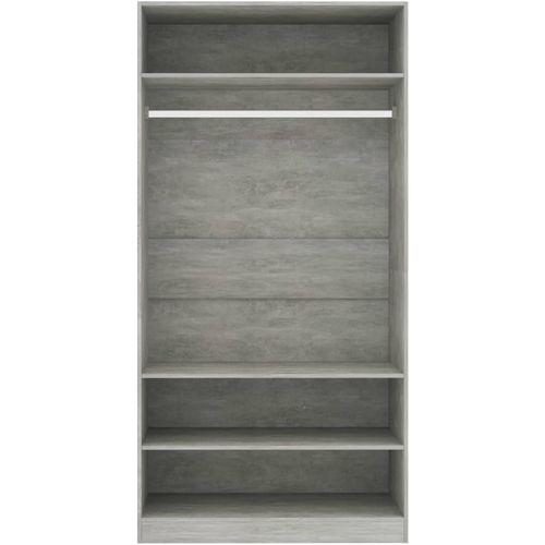Ormar siva boja betona 100 x 50 x 200 cm od iverice slika 19