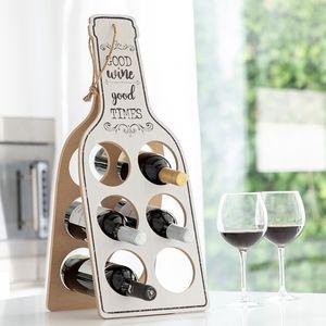 <p>Pokažite svoja najbolja vina na originalnom i ukrasnom<strong>Sklopivom Drvenom Stalku za Boce Good Wine</strong>!</p>Izrađeno od drvetaKonop za vješanje i jednostavan transportProstor za: 6 bocaPribližni promjer otvora za boce: 9 cmPribližne dimen...