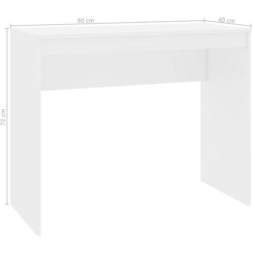 Radni stol visoki sjaj bijeli 90 x 40 x 72 cm od iverice slika 6