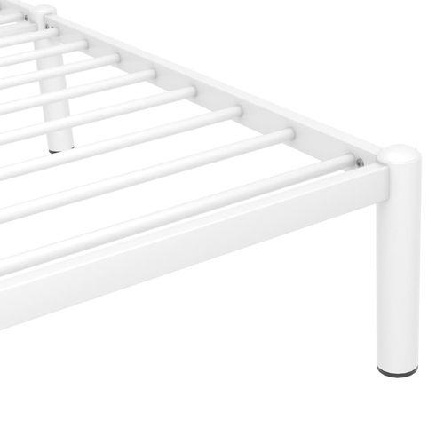 Okvir za krevet bijeli metalni 200 x 200 cm slika 6