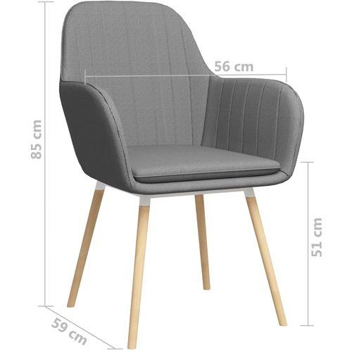 Blagovaonske stolice od tkanine 2 kom svjetlosive slika 7