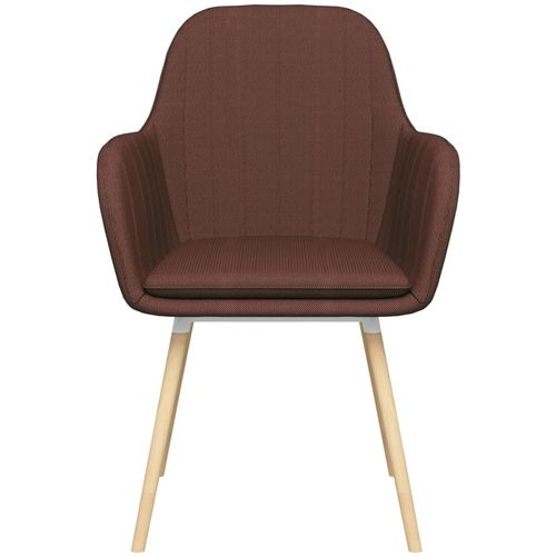 Blagovaonske stolice s naslonima za ruke 2 kom smeđe od tkanine slika 3