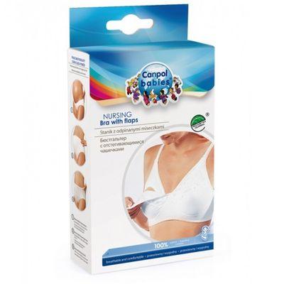 <p><span><span>Ugodan, mekan i elastičan grudnjak za dojilje od 100% pamuka omogućava brzo otkopčavanje i ugodno dojenje.</span></span></p> <p><span><span>Kompaktan, drži prsne jastučiće na svom mjestu, štiti vaša prsa i osigurava udobno nošenje cijelo...