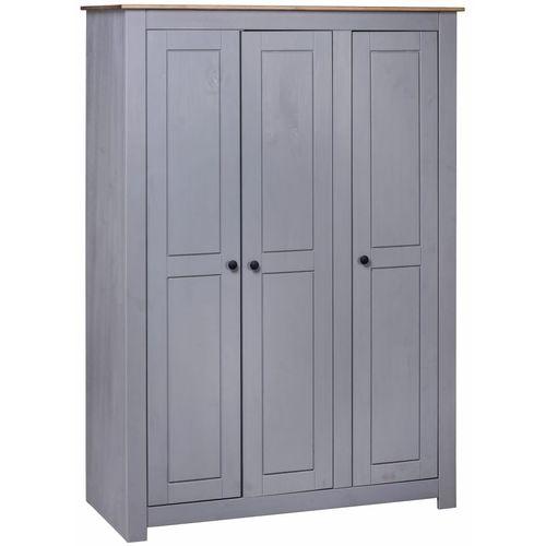 Ormar od borovine 3 vrata sivi 118x50x171,5 cm asortiman Panama slika 8