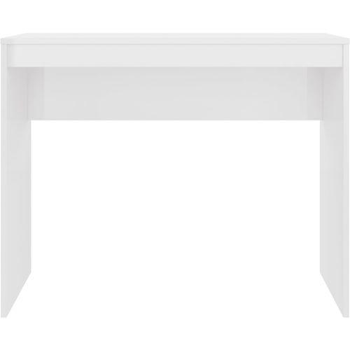 Radni stol visoki sjaj bijeli 90 x 40 x 72 cm od iverice slika 17