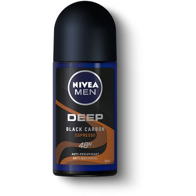 NIVEA MEN DEEP Black Carbon Espresso roll-on