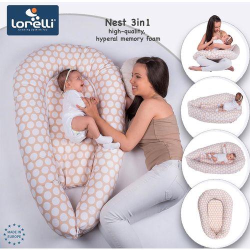LORELLI NEST 3u1 Gnijezdo za bebu ili Jastuk za dojenje Blue Stars (0+) slika 2