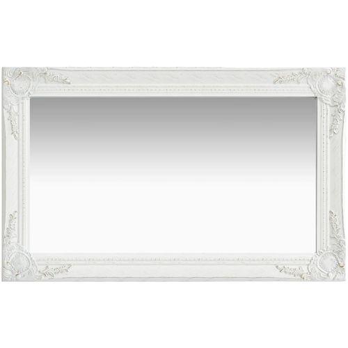 Zidno ogledalo u baroknom stilu 50 x 80 cm bijelo slika 2