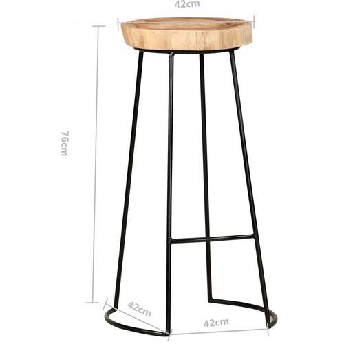 Barski stolci 2 kom od masivnog bagremovog drva slika 8