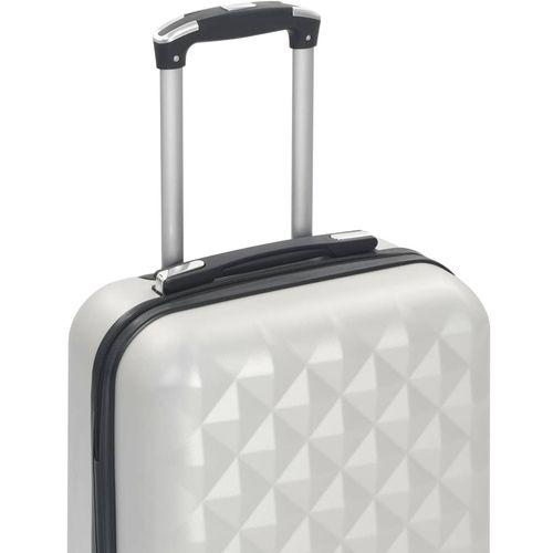 Čvrsti kovčeg s kotačima žarko srebrni ABS slika 6