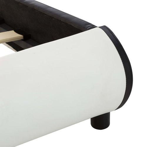 Okvir za krevet od umjetne kože LED bijeli 140 x 200 cm  slika 16