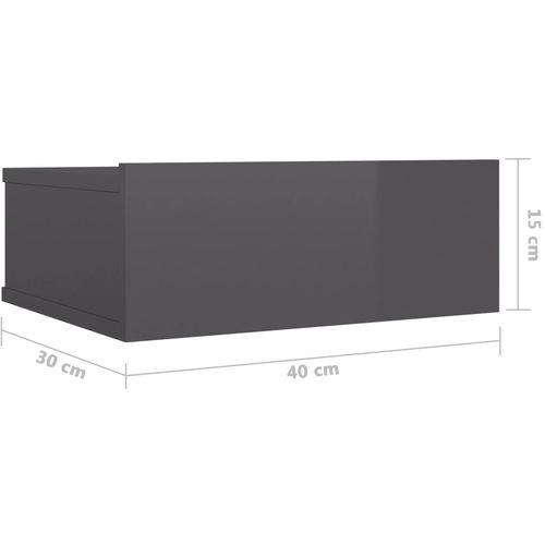 Viseći noćni ormarići 2 kom sjajni sivi 40x30x15 cm od iverice slika 32