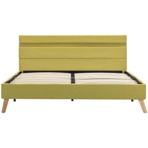 Okvir za krevet od tkanine s LED svjetlom zeleni 140 x 200 cm slika 5